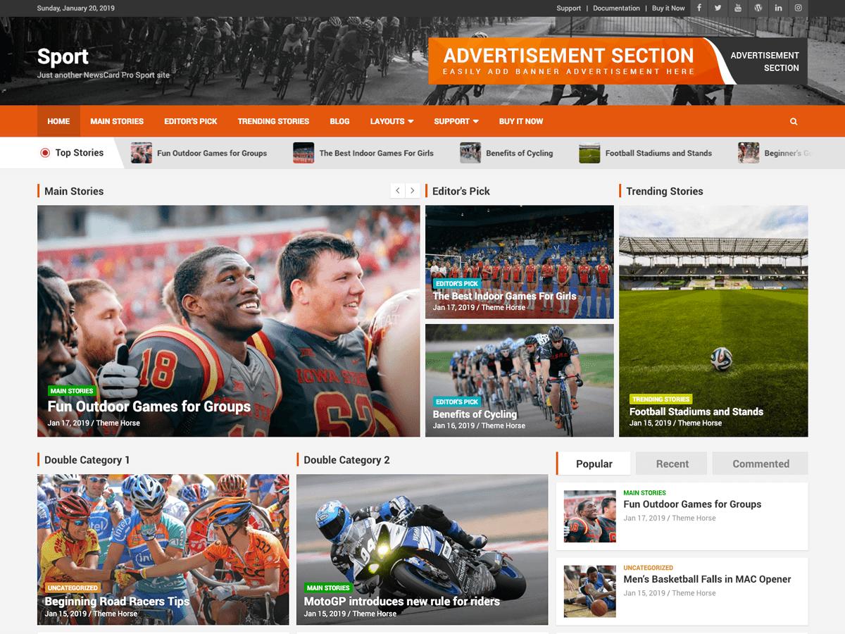 NewsCard Pro Sport